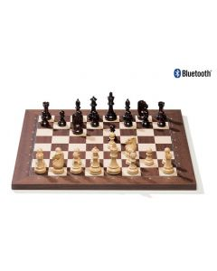 DGT Bluetooth Wireless e-Board + Royal Pieces: Rosewood Bluetooth Board + Royal Pieces