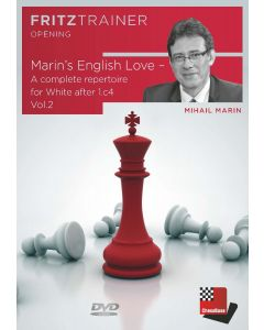 Mihail Marin:  Marin's English Love -  A complete repertoire for White after 1.c4 Vol. 2: FritzTrainer Opening