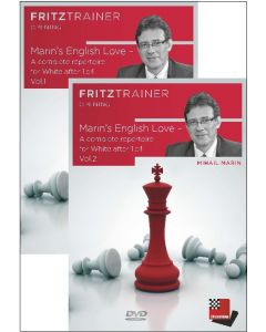 Mihail Marin:  Marin's English Love -  A complete repertoire for White after 1.c4 Vol. 1+2: Save 10% on Two Volumes Combined