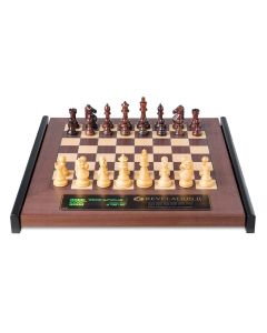 Revelation II + Royal Chess Pieces: Luxurious Wooden Chess Board with Integrated Chess Computer