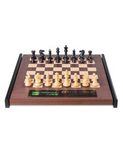 Revelation II + Ebony Chess Pieces: Luxurious Wooden Chess Board with Integrated Chess Computer