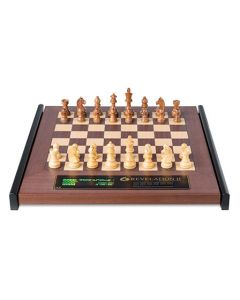 Revelation II + Timeless Chess Pieces: Luxurious Wooden Chess Board with Integrated Chess Computer