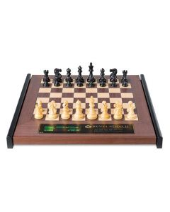 Revelation II + Classic Chess Pieces: Luxurious Wooden Chess Board with Integrated Chess Computer