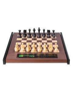 Revelation II + Venus Chess Pieces: Luxurious Wooden Chess Board with Integrated Chess Computer