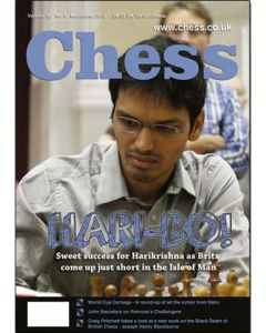 Chess Magazine - November 2015: Sweet Success for Harikrishna
