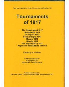 Tournaments of 1917: The Hague, Amsterdam, Budapest, Scheveningen, Havana, Utrecht , The Hague, Algemeen Handelsblad Correspondence Tournament