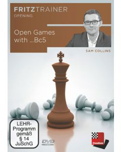 Sam Collins: Open Games with ...Bc5: FritzTrainer Opening