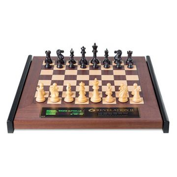 Revelation II + Ebony Chess Pieces