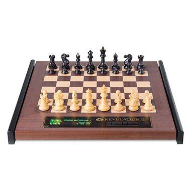 Revelation II + Ebony Chess Pieces