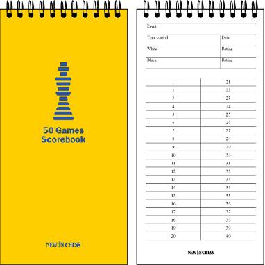 10x 50 Games Scorebook