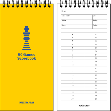 50 Games Scorebook