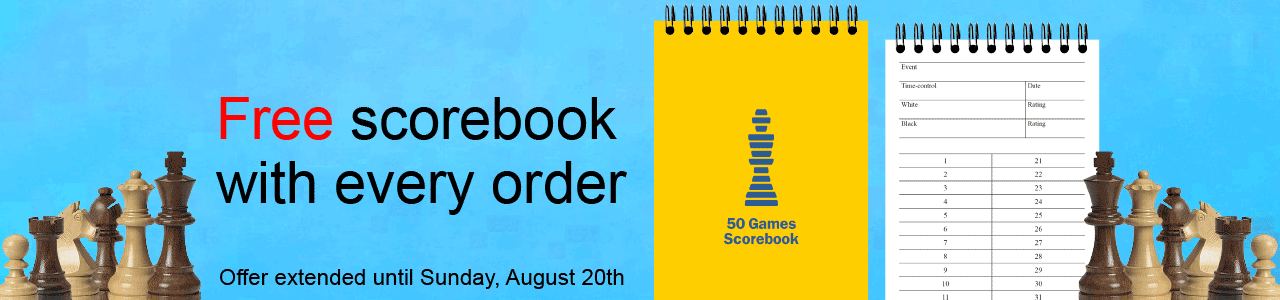 Free scorebook in August - Offer extended until Sunday, August 20th